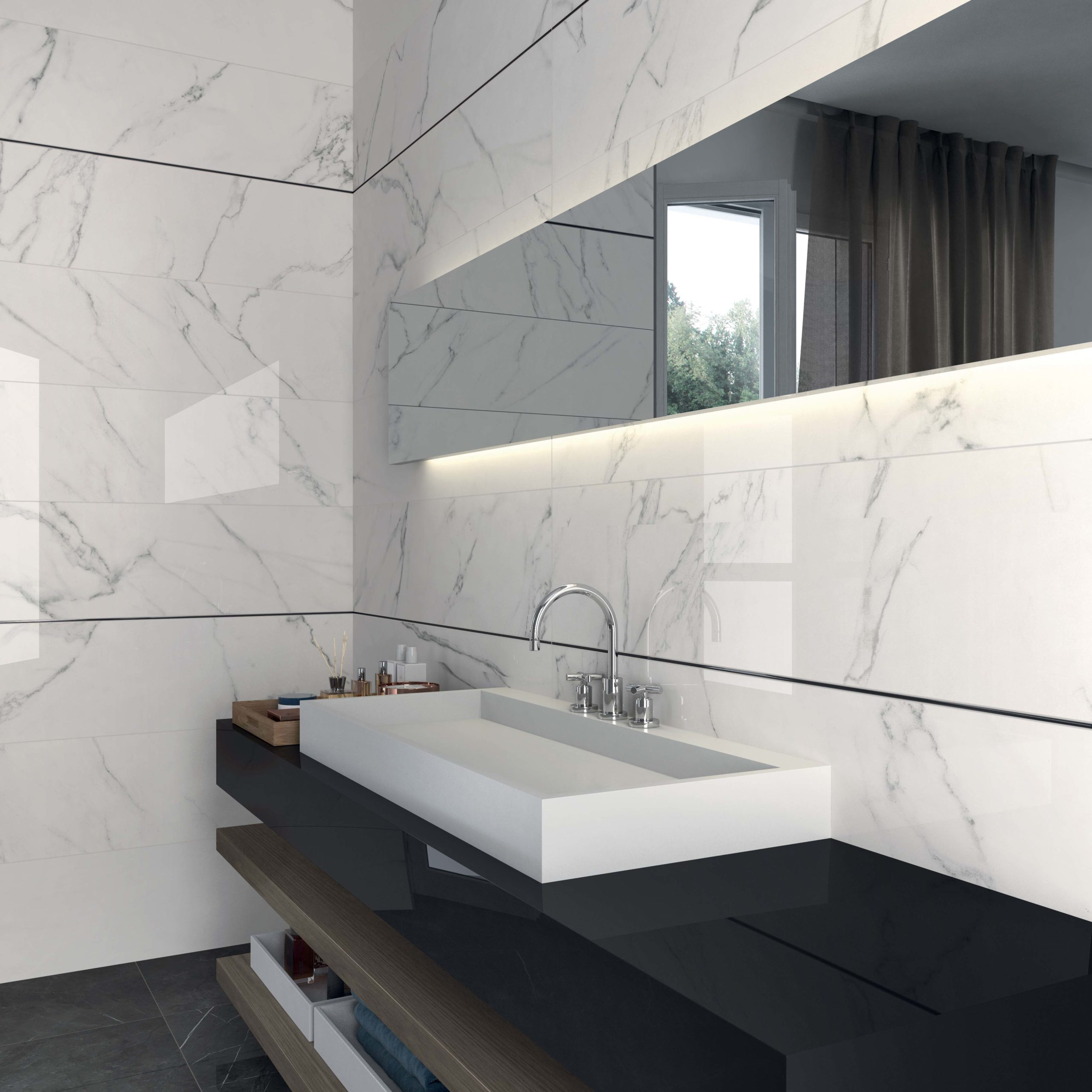 Equipement sanitaire salle de bain MIDI Carrelage